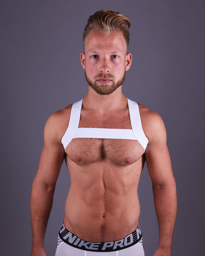 White Chest Harness